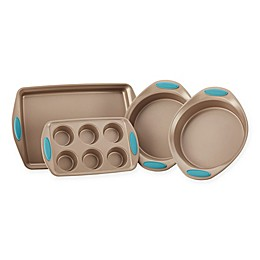 Rachael Ray™ Cucina Non-Stick 4-Piece Bakeware Set in Brown/Blue