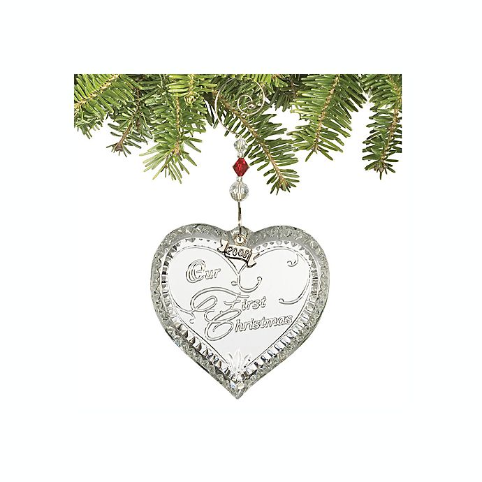 Waterford® 2008 Our First Christmas Ornament | Bed Bath ...