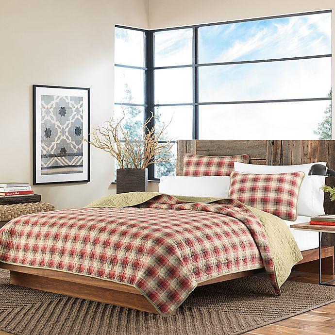 Alternate image 1 for Eddie Bauer® Ravenna Twin Quilt Set in Red