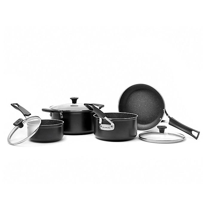 Alternate image 1 for Ricardo The Rock Nonstick Forged Aluminum 7-Piece Cookware Set