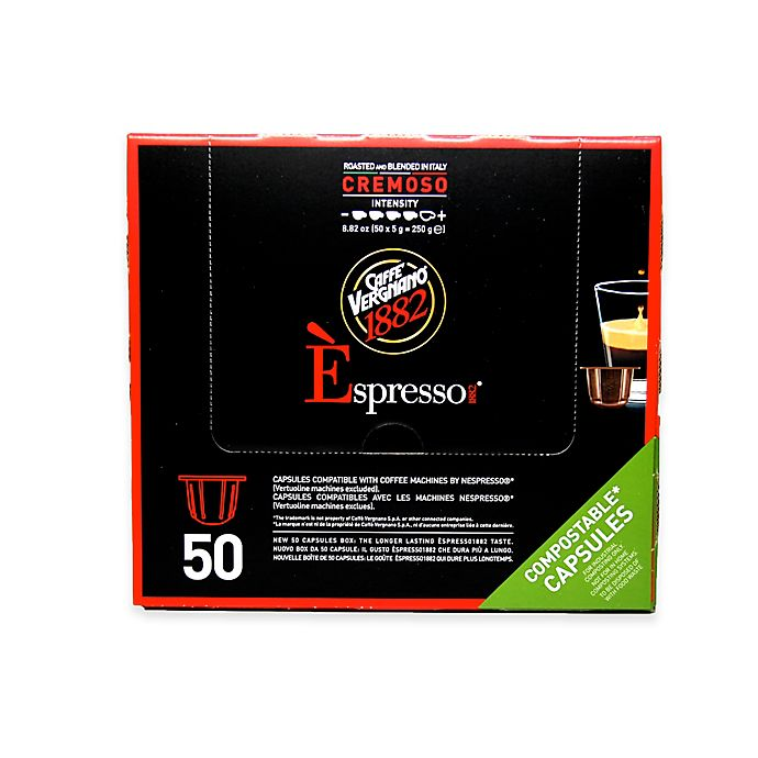 Alternate image 1 for Caffe Vergnano® 50-Count Cremoso Espresso Capsules