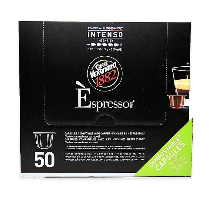 Alternate image 1 for Caffe Vergnano® 50-Count Intenso Espresso Capsules