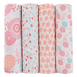 aden + anais® Tea Collection Global Garden 4-Pack Muslin Swaddle Blankets