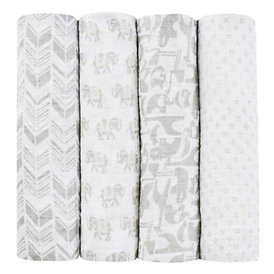 aden + anais® Tea Collection Savanna Animal 4-Pack Muslin Swaddle Blankets