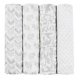 aden + anais® Tea Collection Savanna Animal 4-Pack Muslin Swaddle Blankets