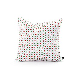 Deny Designs Leah Flores Holiday Polka Dots 18-Inch Square Throw Pillow