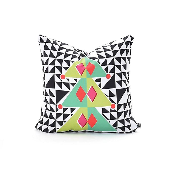 Alternate image 1 for Deny Designs Zoe Woodarz Geo Pop Tree Square Throw Pillow