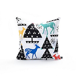 Deny Designs Zoe Woodarz Geo Woodland Trees Square Throw Pillow