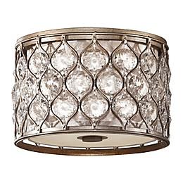 2-Light Flush Mount in Silver