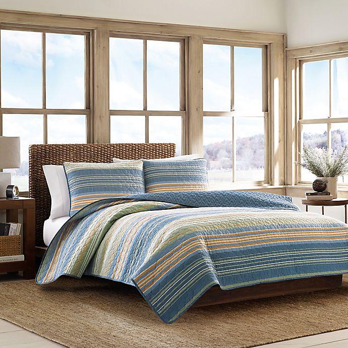 Alternate image 1 for Eddie Bauer® Yakima Valley Full/Queen Quilt Set in Persimmon