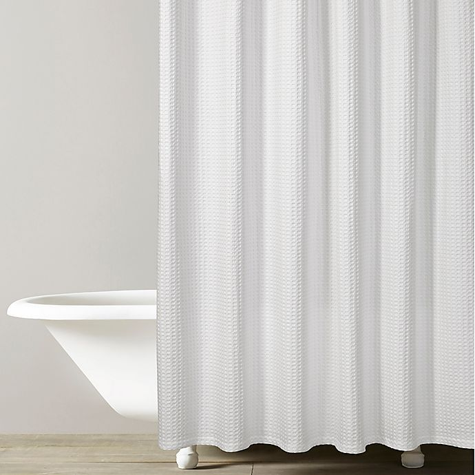 Kassatex Honeycomb Shower Curtain In White Bed Bath Beyond