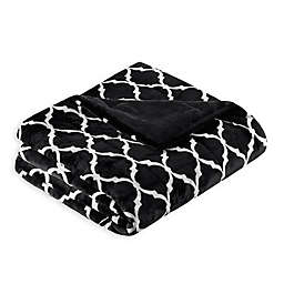 Madison Park Ogee Oversized Throw Blanket in Black