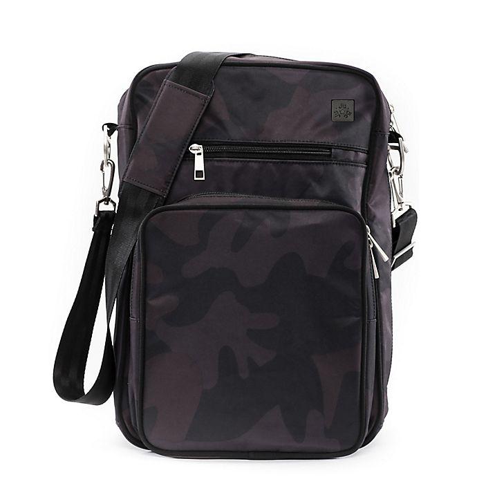 Alternate image 1 for Ju-Ju-Be® Onyx Helix Messenger Diaper Bag in Black Ops