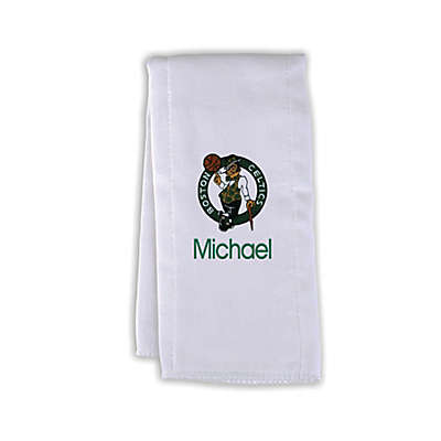 Designs by Chad and Jake NBA Personalized Boston Celtics Burp Cloth