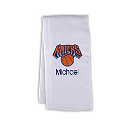 Designs by Chad and Jake NBA Personalized New York Knicks Burp Cloth