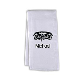 Designs by Chad and Jake NBA Personalized San Antonio Spurs Burp Cloth