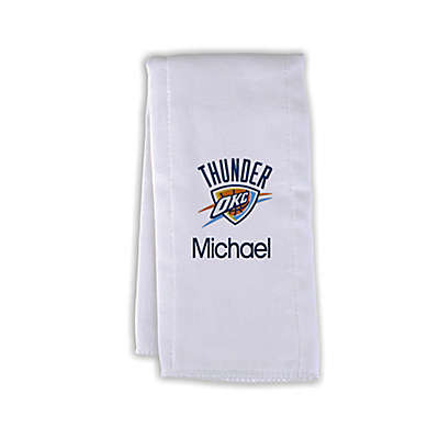 Designs by Chad and Jake NBA Personalized Oklahoma City Thunder Burp Cloth