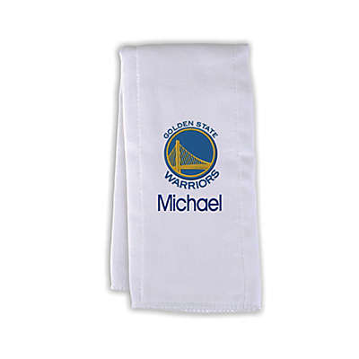 Designs by Chad and Jake NBA Personalized Golden State Warriors Burp Cloth