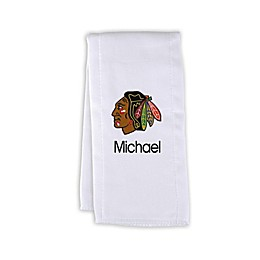 Designs by Chad and Jake NHL Personalized Chicago Blackhawks Burp Cloth