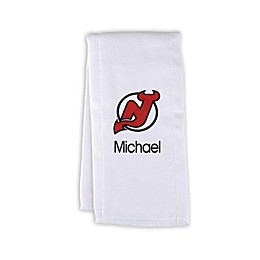 Designs by Chad and Jake NHL Personalized New Jersey Devils Burp Cloth
