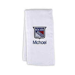 Designs by Chad and Jake NHL Personalized New York Rangers Burp Cloth