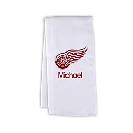 Designs by Chad and Jake NHL Personalized Detroit Red Wings Burp Cloth