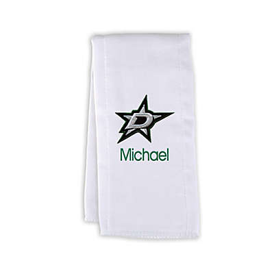 Designs by Chad and Jake NHL Personalized Dallas Stars Burp Cloth