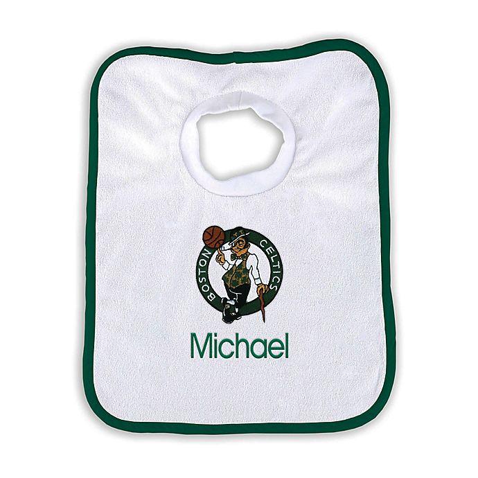Alternate image 1 for Designs by Chad and Jake NBA Personalized Boston Celtics Bib