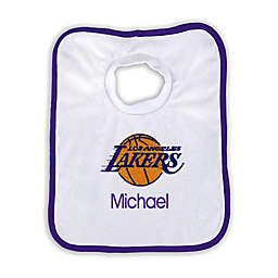 Designs by Chad and Jake Personalized Los Angeles Lakers Bib
