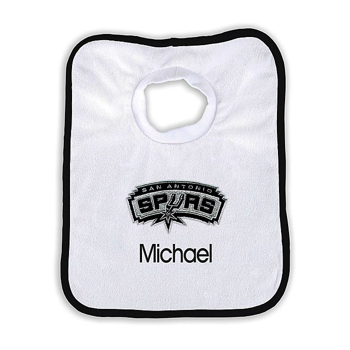 Alternate image 1 for Designs by Chad and Jake NBA Personalized San Antonio Spurs Bib