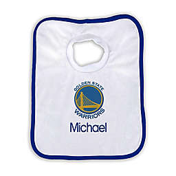Designs by Chad and Jake NBA Personalized Golden State Warriors Bib
