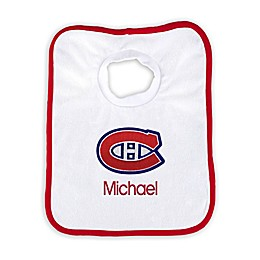 Designs by Chad and Jake NHL Personalized Montreal Canadians Bib