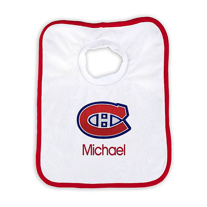 Alternate image 1 for Designs by Chad and Jake NHL Personalized Montreal Canadians Bib