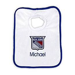 Designs by Chad and Jake NHL Personalized New York Rangers Bib