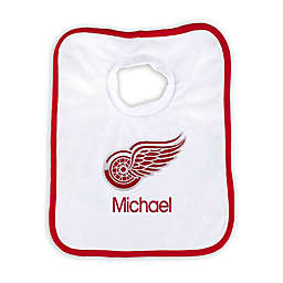 Designs by Chad and Jake NHL Personalized Detroit Red Wings Bib