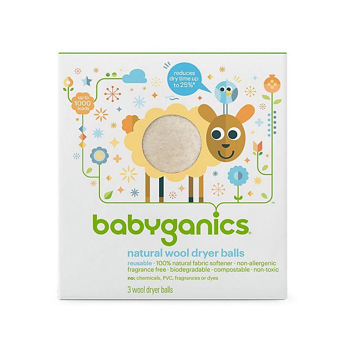 Alternate image 1 for Babyganics® 3-Pack Laundry Dryer Balls in White