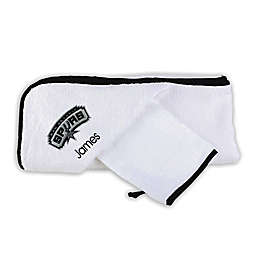 Designs by Chad and Jake NBA San Antonio Spurs Personalized  Hooded Towel Set in White