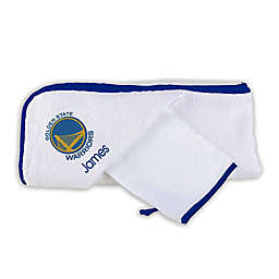 Designs by Chad and Jake NBA Golden State Warriors Personalized Hooded Towel Set in White