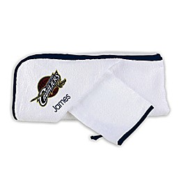 Designs by Chad and Jake NBA Cleveland Cavaliers Personalized Hooded Towel Set in White
