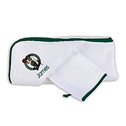Designs by Chad and Jake NBA Boston Celtics Personalized Hooded Towel Set in White