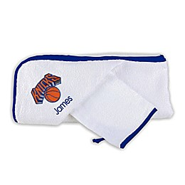 Designs by Chad and Jake NBA New York Knicks Personalized Hooded Towel Set in White