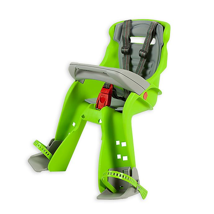 Alternate image 1 for Peg Perego Orion Child Bike Seat in Lime Green/Grey