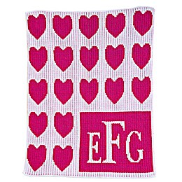 Lots of Hearts Stroller Blanket in Fuchsia