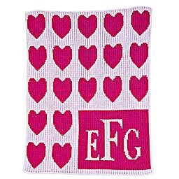 Lots of Hearts Stroller Blanket in Fuchsia