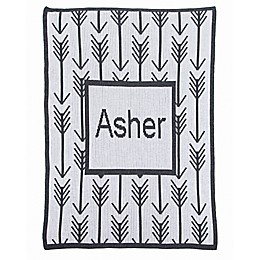 Arrows and Arrows Stroller Blanket in Charcoal/White