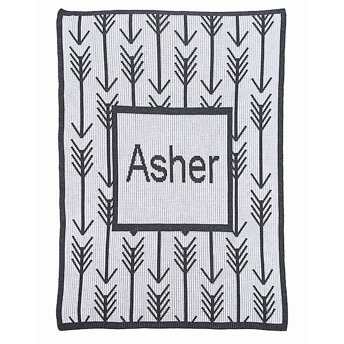 Alternate image 1 for Arrows and Arrows Stroller Blanket in Charcoal/White