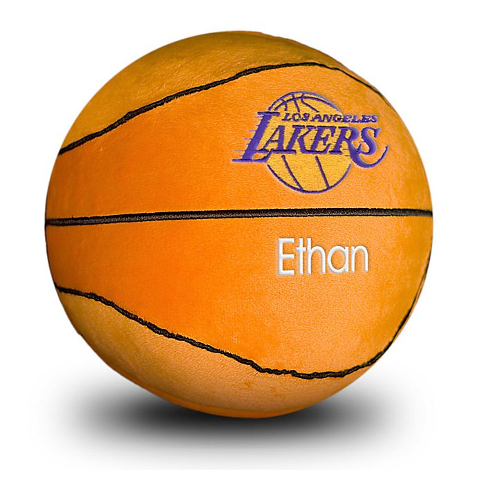 Alternate image 1 for Designs by Chad and Jake NBA Los Angeles Lakers Personalized Plush Basketball