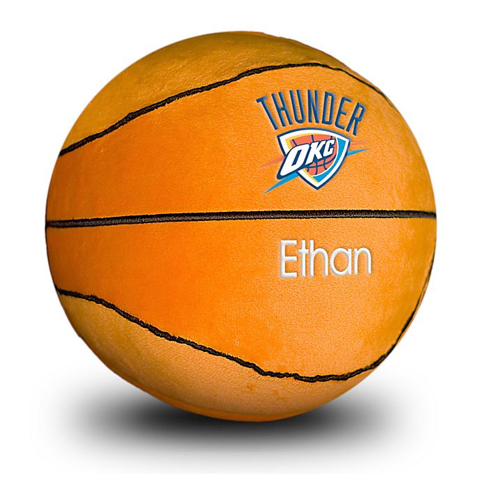 Alternate image 1 for Designs by Chad and Jake NBA Oklahoma City Thunder Personalized Plush Basketball