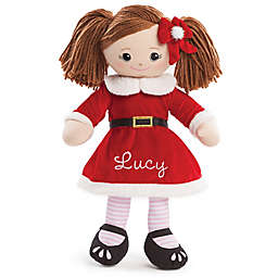 Brunette Santa Dress Doll in Red