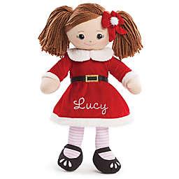 Brunette Santa Dress Doll in Red